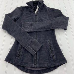 Lululemon Jacket heather grey size 2 full zip